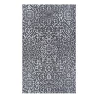 Couristan® Palmette 2' x 3'7 Indoor/Outdoor Accent Rug in Black/Grey/Ivory