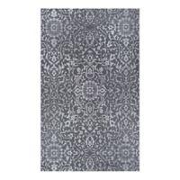 Couristan® Palmette 7'6 x 10'9 Indoor/Outdoor Area Rug in Black/Grey/Ivory