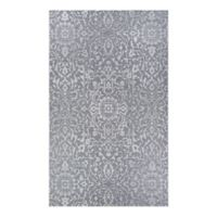 Couristan® Palmette 2' x 3'7 Indoor/Outdoor Accent Rug in Grey/Ivory