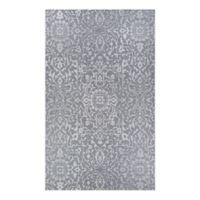 Couristan® Palmette 3'9 x 5'5 Indoor/Outdoor Area Rug in Grey/Ivory