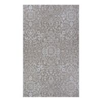 Couristan® Palmette 2' x 3'7 Indoor/Outdoor Accent Rug in Mushroom/Ivory