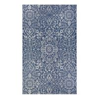 Couristan® Palmette 2' x 3'7 Indoor/Outdoor Accent Rug in Navy/Ivory