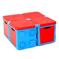 Chillafish® BOX 16-Piece Modular Play and Storage Table Set in Blue/Red