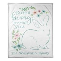 "Designs Direct ""Some Bunny Loves You"" Fleece Blanket"