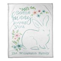 "Designs Direct ""Some Bunny Loves You"" Fleece Blanket"