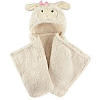 Hudson Baby® Lamb Plush Hooded Blanket in White