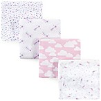 Hudson Baby® Unicorn Flannel 4-Pack Receiving Blankets in Pink