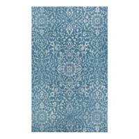 Couristan® Palmette 3'9 x 5'5 Indoor/Outdoor Area Rug in Ocean/Ivory
