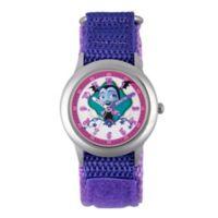 Disney® Children's Vampirina Time Teacher Watch in Stainless Steel w/Purple Strap