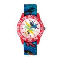 Disney® Children's 32mm Puppy Dog Pals Rolly Time Teacher Watch in Blue