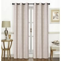 Chandler 84-Inch Grommet Window Curtain Panel Pair in Sand