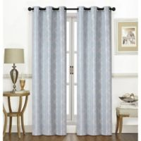 Chandler 63-Inch Grommet Window Curtain Panel Pair in Aquamarine