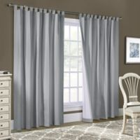 Weathermate 84-Inch Tab Top Window Curtain Panel Pair in Silver