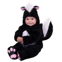 Skunk Size 6-12M Toddler Halloween Costume in Black/White