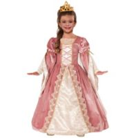 Victorian Rose Child's Small Halloween Costume Gown in Pink
