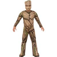 Guardians of the Galaxy Child's Small Deluxe Groot Halloween Costume in Brown