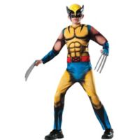 Marvel® Deluxe Wolverine Size Large Child's Halloween Costume in Blue/Yellow