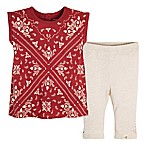 Burt's Bees Baby® Size 3-6M 2-Piece Bandana Tunic Shirt and Legging Set in Red