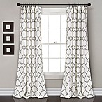 Lush Décor Bellagio 84-Inch Room Darkening Rod Pocket Window Curtain Panel Pair in Grey