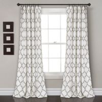 Lush Décor Bellagio 84-Inch Room Darkening Rod Pocket Window Curtain Panel Pair in Grey