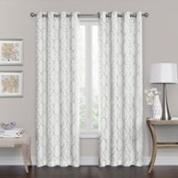 Brent Grommet 108-Inch 100% Blackout Window Curtain Panel in White