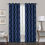 Brent Grommet 84-Inch 100% Blackout Window Curtain Panel in Navy