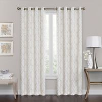 Brent Grommet 108-Inch 100% Blackout Window Curtain Panel in Ivory