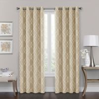 Brent Grommet 108-Inch 100% Blackout Window Curtain Panel in Natural