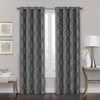 Brent Grommet 108-Inch 100% Blackout Window Curtain Panel in Charcoal