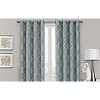 Brent Grommet 84-Inch 100% Blackout Window Curtain Panel in Silver Blue