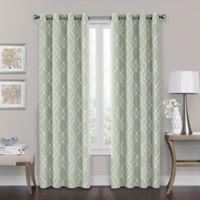 Brent Grommet 100% Blackout 95-Inch Window Curtain Panel in Green