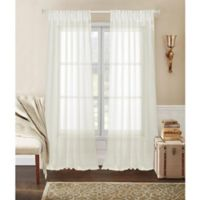 Laura Ashley® Whisper Pinch Pleat Rod 96-Inch Pocket Window Curtain Panel Pair in Ivory
