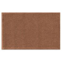 "Weather Guard™ Squares 18"" x 28"" Door Mat in Dark Brown"