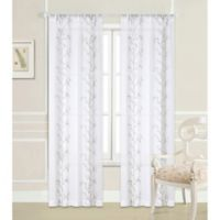 Laura Ashley® Sierra 96-Inch Rod Pocket Window Curtain Panel Pair in White