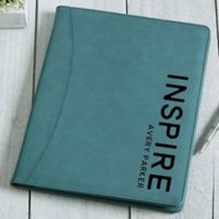 Bold Style Bicast Leather Full Pad Portfolio in Teal