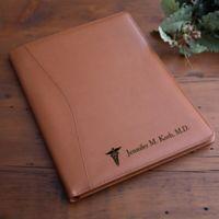 Medical Notes Tan Leather Portfolio