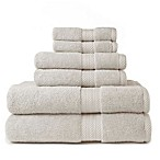 American Dawn 6-Piece Hopewell Bath Towel Set in Flax