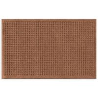"Weather Guard™ Squares 24"" x 36"" Door Mat in Dark Brown"
