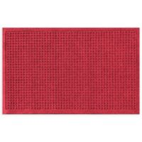 "Weather Guard™ Squares 24"" x 36"" Door Mat in Red/Black"