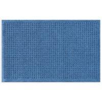 """Weather Guard™ Squares 24"""" x 36"""" Door Mat in Medium Blue"""