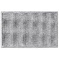 "Weather Guard™ Squares 24"" x 36"" Door Mat in Medium Grey"
