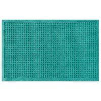 """Weather Guard™ Squares 24"""" x 36"""" Door Mat in Aquamarine"""