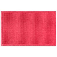 """Weather Guard™ Squares 24"""" x 36"""" Door Mat in Solid Red"""