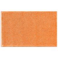 """Weather Guard™ Squares 24"""" x 36"""" Door Mat in Orange"""