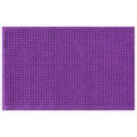 """Weather Guard™ Squares 24"""" x 36"""" Door Mat in Purple"""