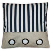 Elise & James Home™ Striped Grommet Square Throw Pillow in Navy/White