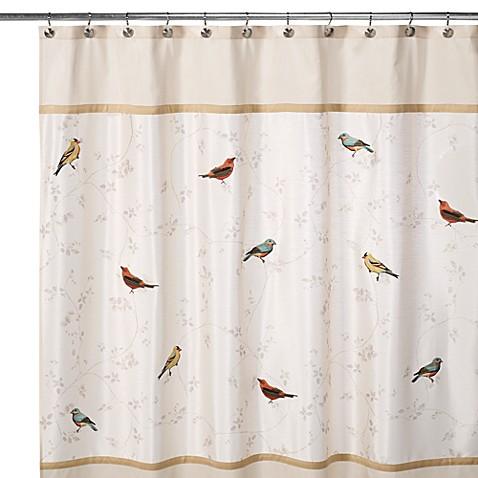 Avanti Gilded Birds 70 Inch X 72 Inch Shower Curtain Bed Bath Beyond