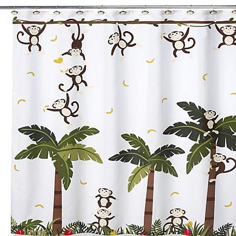 Motion Monkey II 70-Inch W x 71-Inch L Shower Curtain - Bed Bath ...