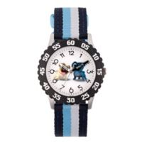 Disney® Children's 32mm Puppy Dog Pals Rolly and Bingo Time Teacher Watch in Blue