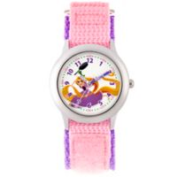 Disney® Children's 32mm Tangled Time Teacher Watch in Pink